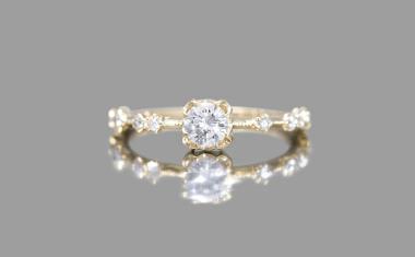 Diamond Paeonia Ring