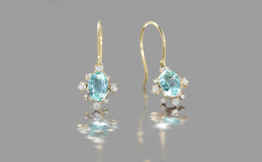 Paraiba Snowflake Earrings