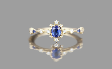 Sapphire Snowflake Ring