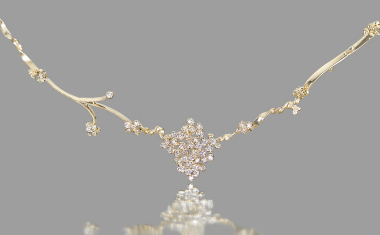 Diamond Cluster Necklace-Eden