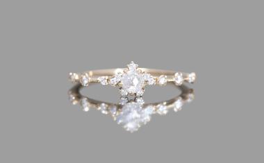 Diamond Snowflake Ring-Victorian