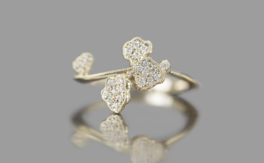 Diamond Lily Ring