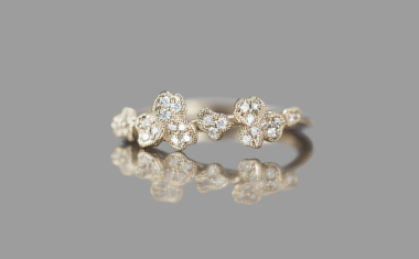 Diamond Larkspur Ring