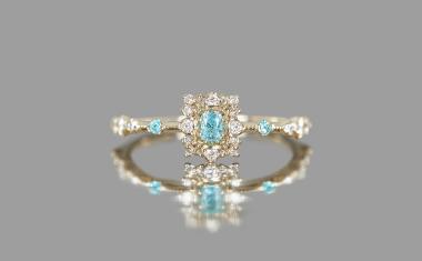 Paraiba Diamond Pavé Ring