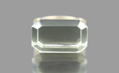 Oblong Green Quartz Ring