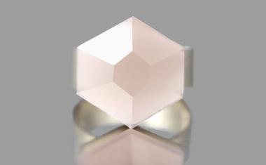 Oculus Rose Quartz Ring