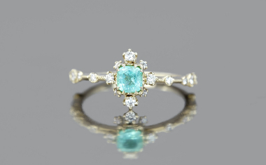 Paraiba Snowflake Ring-Supreme