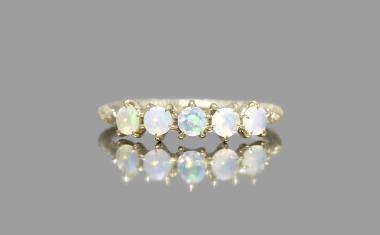 Opal Cosmic Line Ring